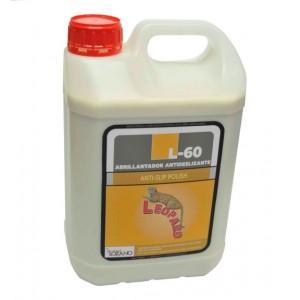 Abrillantador antideslizante para suelos, emulsión de ceras y resinas para el mantenimiento de todo tipo de superficies.