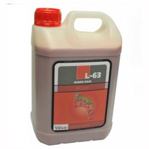 Producto químico. Abrillantador para suelo Leopard- 63 Barro Rojo, Producto Leopard.