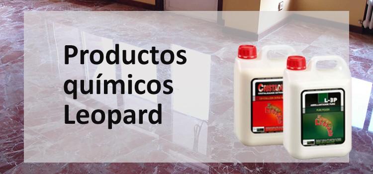 Productos químicos. Abrillantadores, cristalizadores, selladores, pulidores, productos de limpieza. Comercial Lozano fabricantes de productos químicos. Productos Leopard.